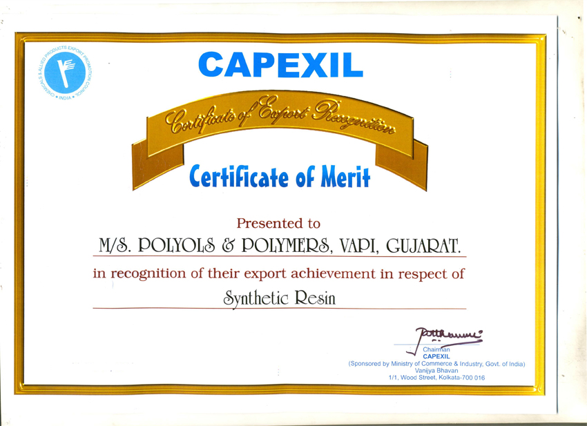 Certificate of Export Recognition